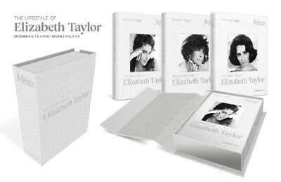 Julien's Auctions THE LIFESTYLE OF ELIZABETH TAYLOR (2019) 3 Hardbacks in Case