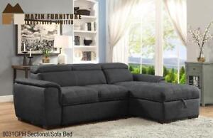 Grey Fabric Sectional For Living room (BD-2447)
