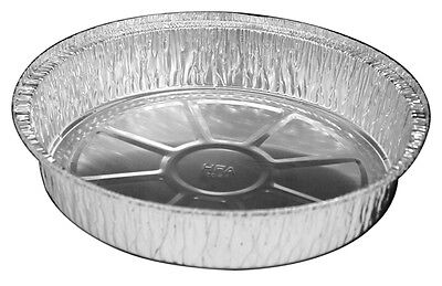 9 Round Aluminum Foil Take-out Pan 500 Bulk Pack - Disposable Tin Containers