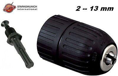 MANDRINO AUTOBLOCCANTE PER TRAPANO 2-13 mm + ADATTATORE SDS PLUS 1/2 F.