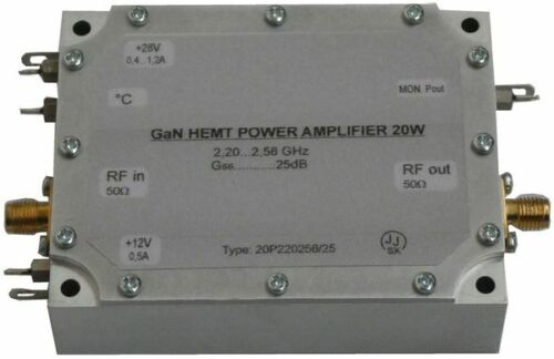 S-Band GaN power amplifier 20W_25dB; 13cm GaN HEMT power amplifier 20W