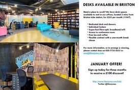 3 Spaces available in Brixton- January offer!