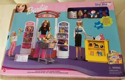 Barbie Toy Store Play Set Mattel 1999 NRFB Cool Toys Box has some wear