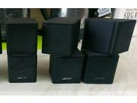 Bose Jewel cubes x3 lifestyle acoustimass home cinema speakers
