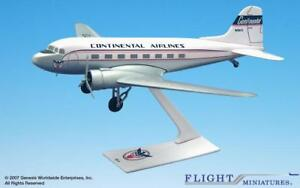Flight Miniatures Continental Airlines DC-3 1/100 Scale Model with Stand