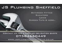 JS PLUMBING - Domestic Plumber (Bathrooms/Leaks/Sinks ETC) - Cheap, Local, Reliable! Sheffield Area