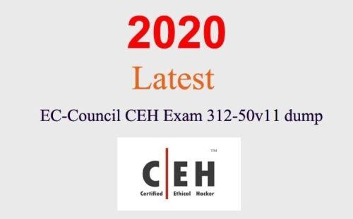 ECCouncil CEHv11 312-50v11 dump latest questions (1 month update)