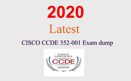 Cisco CCDE 352-001 dump latest questions (1 month update)