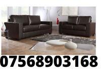 SOFA GOODER Italian leather 3+2 black or brown sofa set 0162