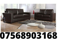 SOFA 3+2 Italian leather sofa brand new black or brown DELIVERED THIS WEEKEND 11311