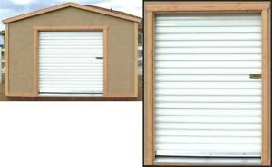 New White Roll-up Shed door 5 x 7
