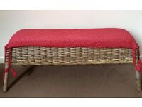Wicker Bench with cushion