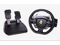 Logitech 458 Italia steering wheel and pedals for PC - Xbox