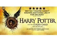 Harry Potter and the cursed child theatre tickets part 1&2 30th of August 2017