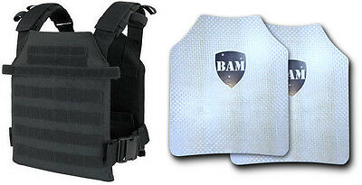 Level IIIA+ 3A+ Body Armor FLAT | ArmorCore | Bullet Proof Vest BAM Sentry Black