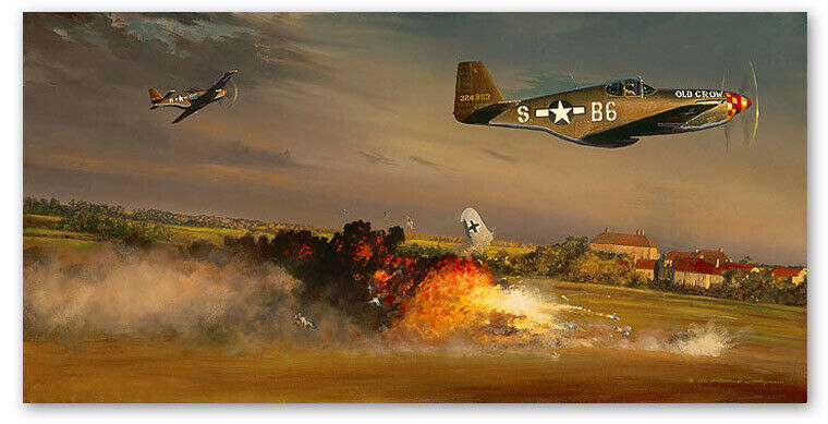 A Bandit Goes Down - Art Print By William S. Phillips - P-51B - $495.00