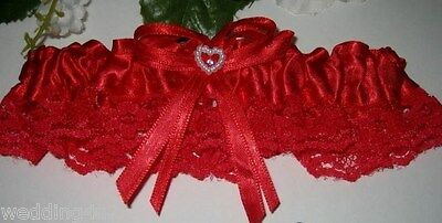 Wedding Ceremony Prom Bridal ~Sexy~ Garter Red or Black Your Choice of Color](Prom Garter)