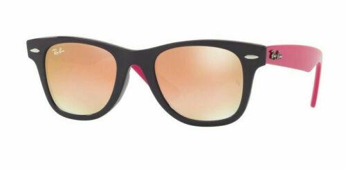 RAY-BAN Jr. RJ9066S 7021/B9 Violet Pink Frame Brown Mirror Lens Sunglasses 47mm