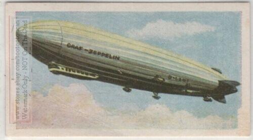German 'Graf Zeppelin' 1928 Rigid Helium Airship Vintage Trade Ad Card