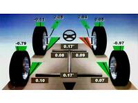 Bmw vw Mercedes vans audi citroen peugeot Nissan toyota vauxhall ford 4 wheel alignment service