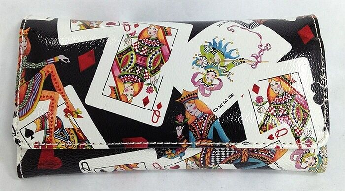 NEW Queens Playing Cards Wallet Poker Cute and Functional *
