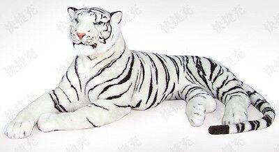 "57"" Ex Large White Siberian Bengal Wild Real Life Lying Tiger Soft Plush  43781X"