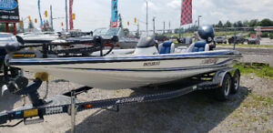2003 Stratos 201 PRO XL bass boat fishing w/225HP Evinrude &Trl