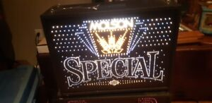 Molson Special Beer Sign FiberOptic Man Cave Must Have