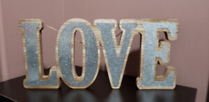 Rustic Wooden Love Wall Sign - Bridal Shower or Wedding Decor