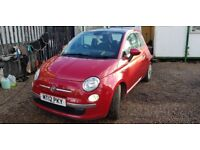 Fiat 500 1.2i Lounge S/S (red) 2012