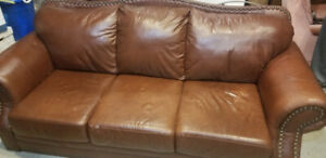 Genuine Leather Couch - MUST GO