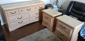 Dresser and 2 night stands.  A+ quality and very good condition