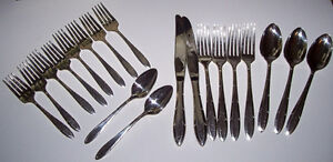 19 Pcs.of Vintage Nobility Silver Plate Flatware Reverie 1937 London Ontario image 1