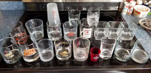 Drinking glasses, booze related, 20 in total