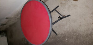 Round Red Patio Table