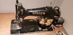 Antique Singer Sewing Machine, with Table
