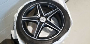 Mint AMG wheels and Pirelli Snows for Mercedes C450 or 43
