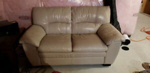 Genuine leather loveseat excellent condition (smoke free home)
