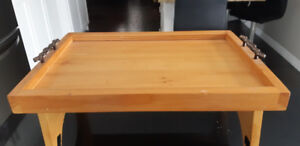 Wood TV Tray- Pine wood