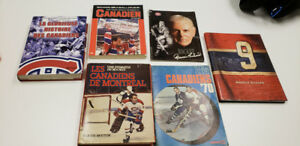 Montreal Canadiens Hockey Memorabilia books...all from then& now