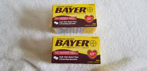 Bayer Asprin Pain Reliever 325 mg 100 Coated Tablets EX.7/20