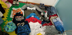 Sz 24 mos boys clothes Lot! And 2 rubber shoes