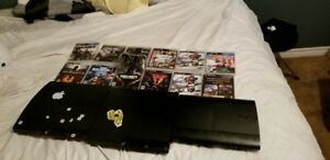 2 Jailbroken PS3's and 1 OFW PS3 With games and controllers