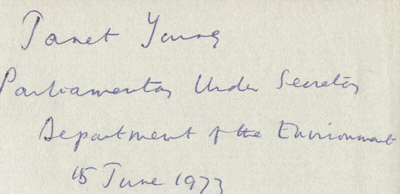 JANET YOUNG - SIGNATURE(S) 06/15/1973