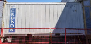 Used shipping and storage container and chassis for sale