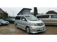 TOYOTA ALPHARD 4 BERTH CAMPERVAN WITH ROCK & ROLL BED AND POP UP ROOF