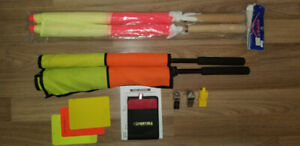 NEW & USED- Soccer Referee Flags, Cards, and Whistles