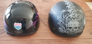 Two Helmets for scooter, moped or bike