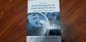 Quality Management for Organizational Excellence, 8th Edition