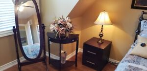 Nightstand & Mirror w/Table